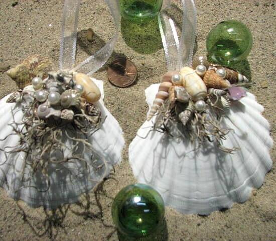 Пляж Shell Декор Елочные украшения - Seashell елочных игрушек - 1шт