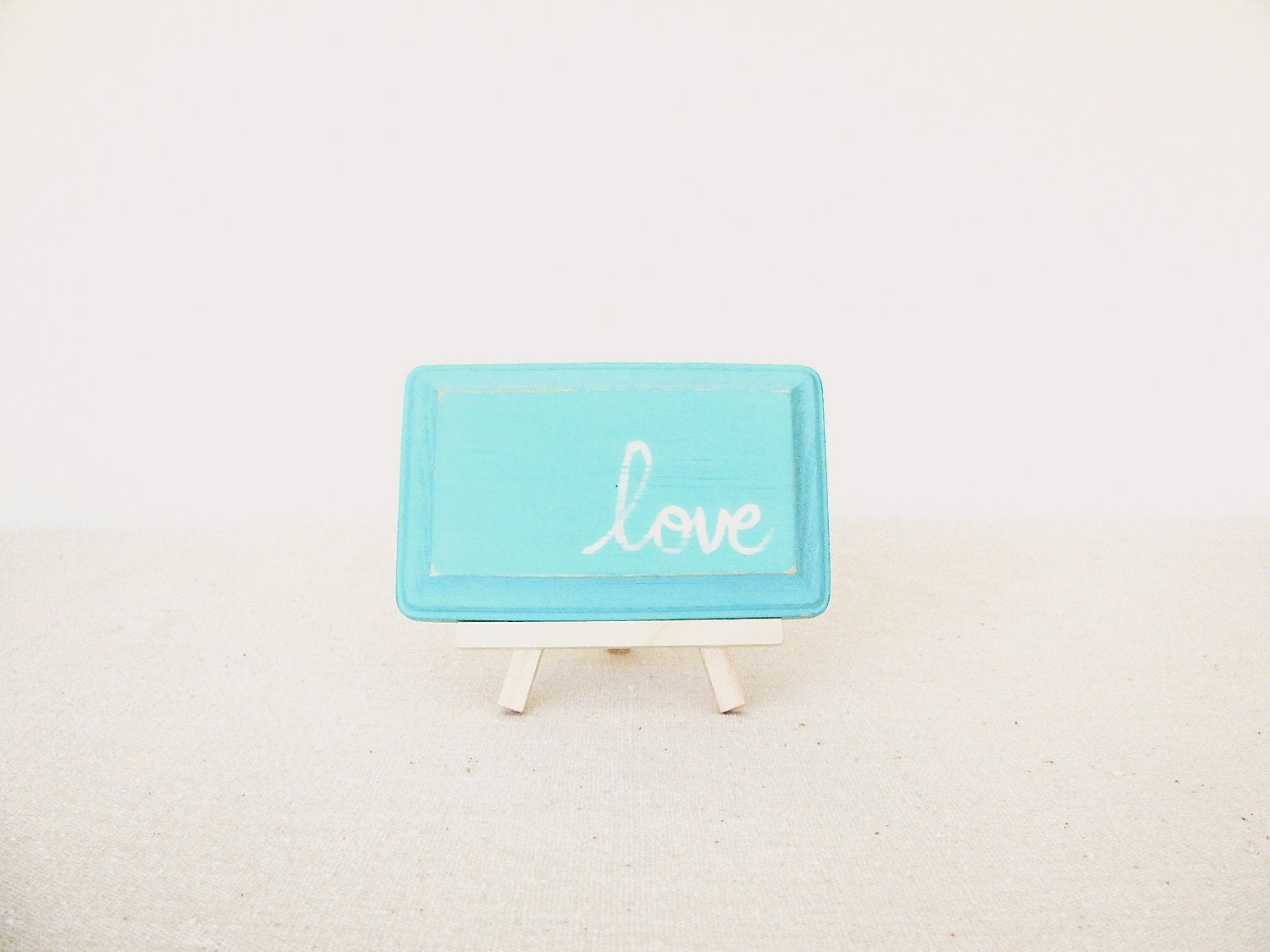 Love Wooden Sign - Turquoise Love Plaque - RevellHouse