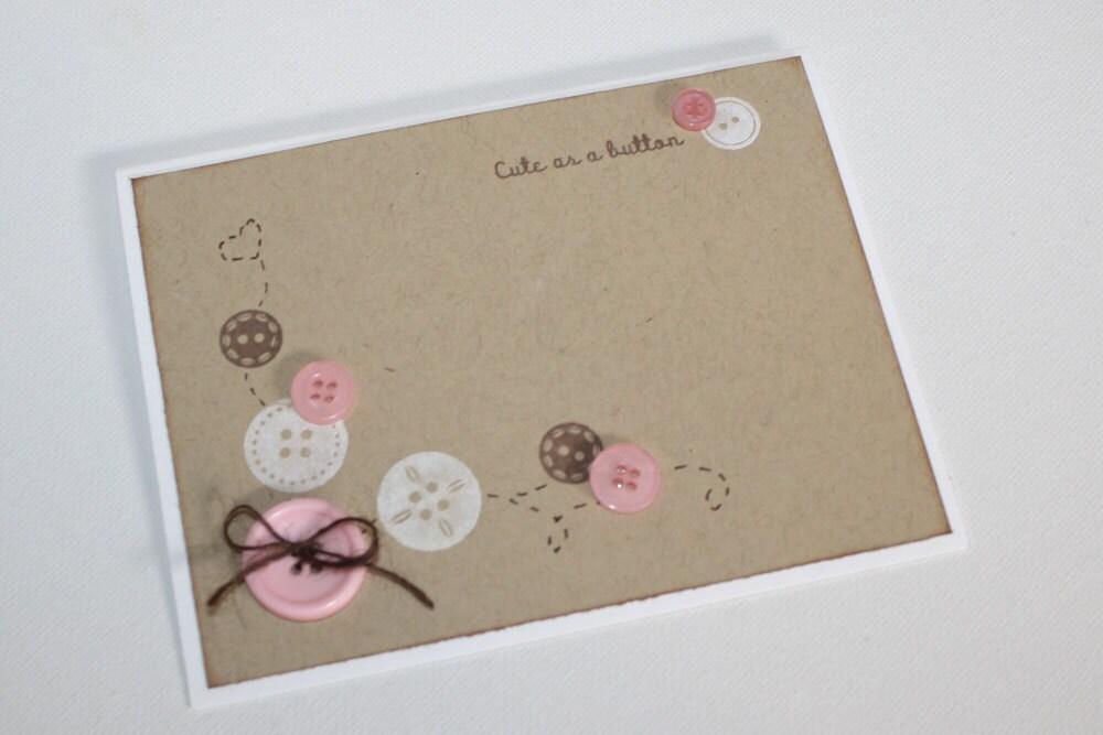 Cute As A Button Invitations