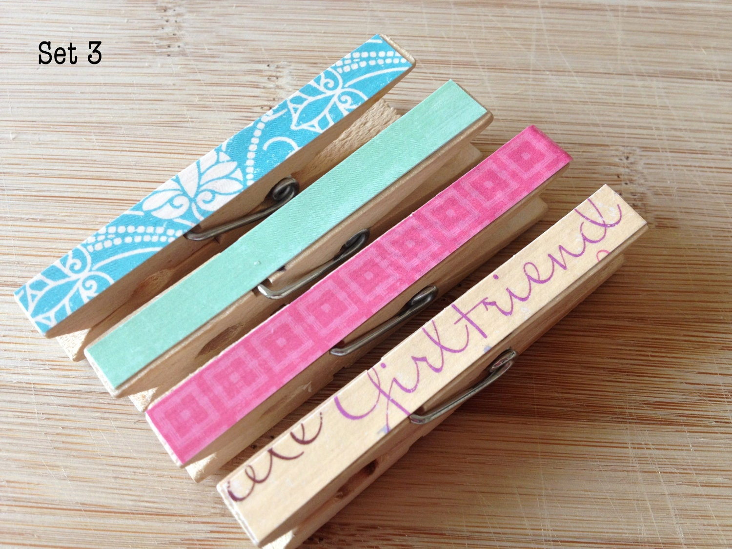 Colorful Clothespin Magnetic Clips