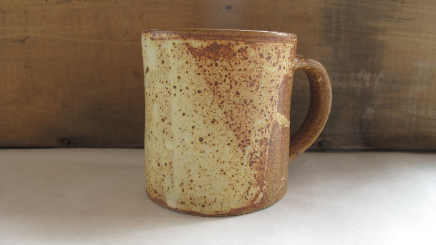 Small Yum Yum Yellow Mug - NewProspectPottery