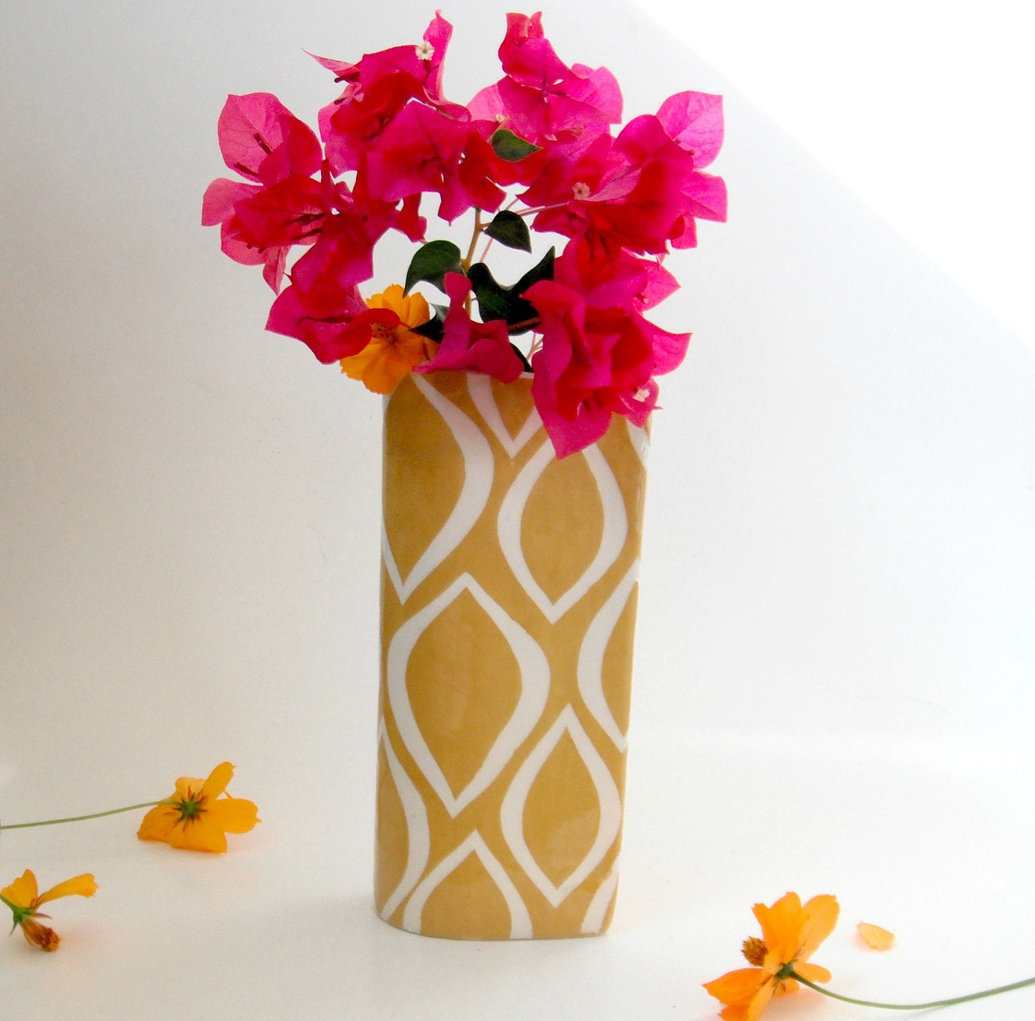 Tumeric Gold Vase-made to order