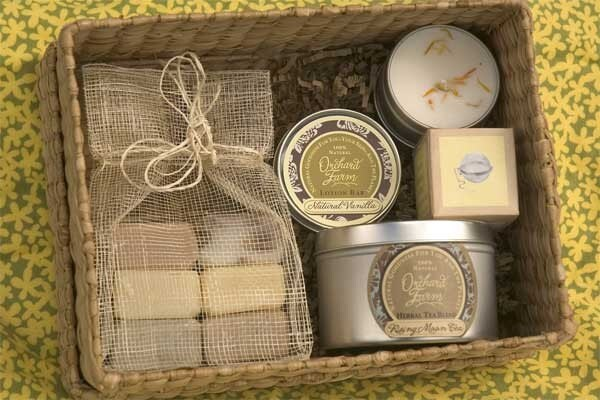 Wedding gift basket From orchardfarmsoap