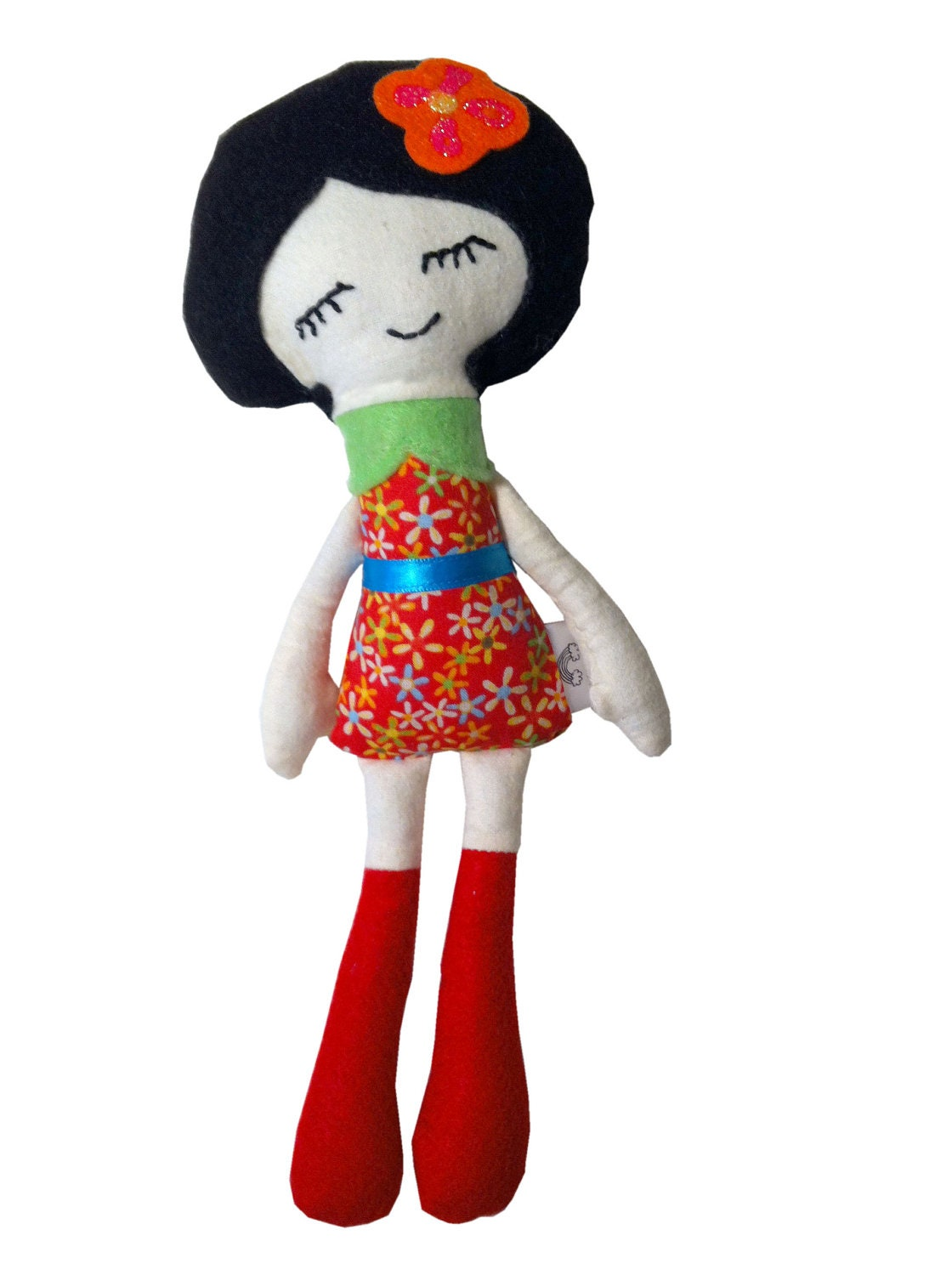 Lazy Daisy Cloth Doll - Black Hair - Kokma