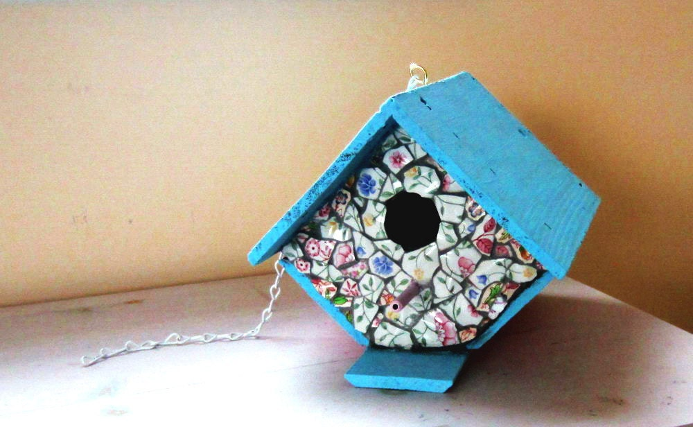 Mosaic Birdhouse - ReclaimedDesigns