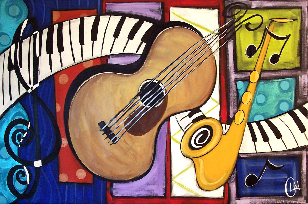 musical art on pinterest music painting guitar and music
