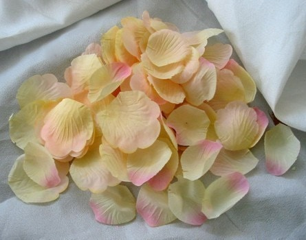 100 Blush Pink artificial silk Rose Petals for Wedding Decorations