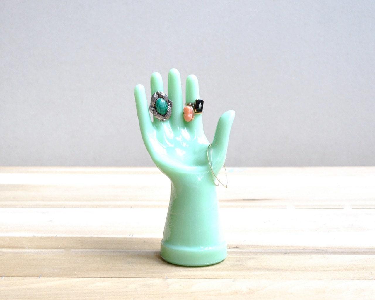 Vintage Jadite Hand