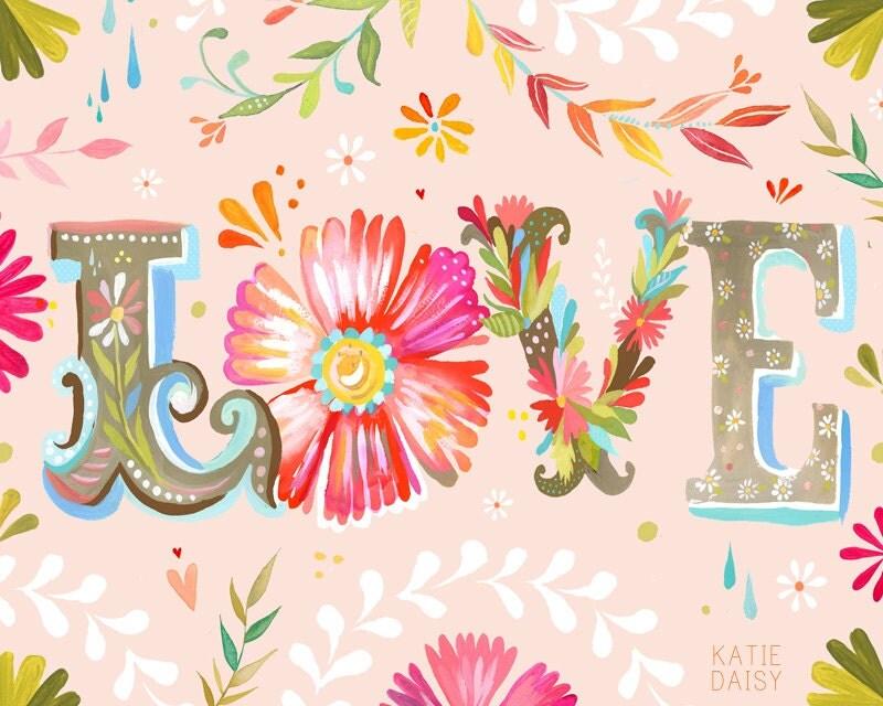 LOVE - horizontal- 8x10 print