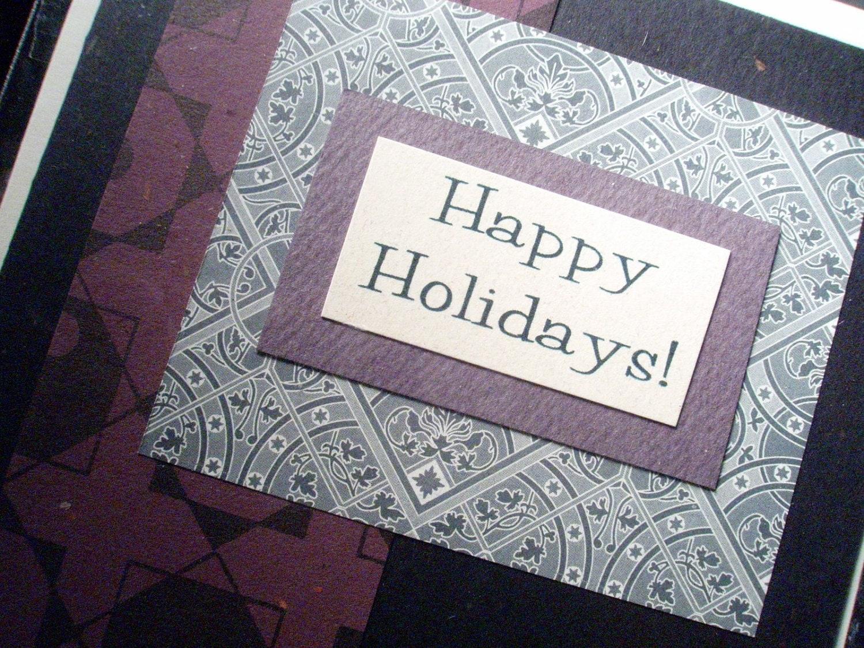 Happy Holidays - Blank Greeting Card