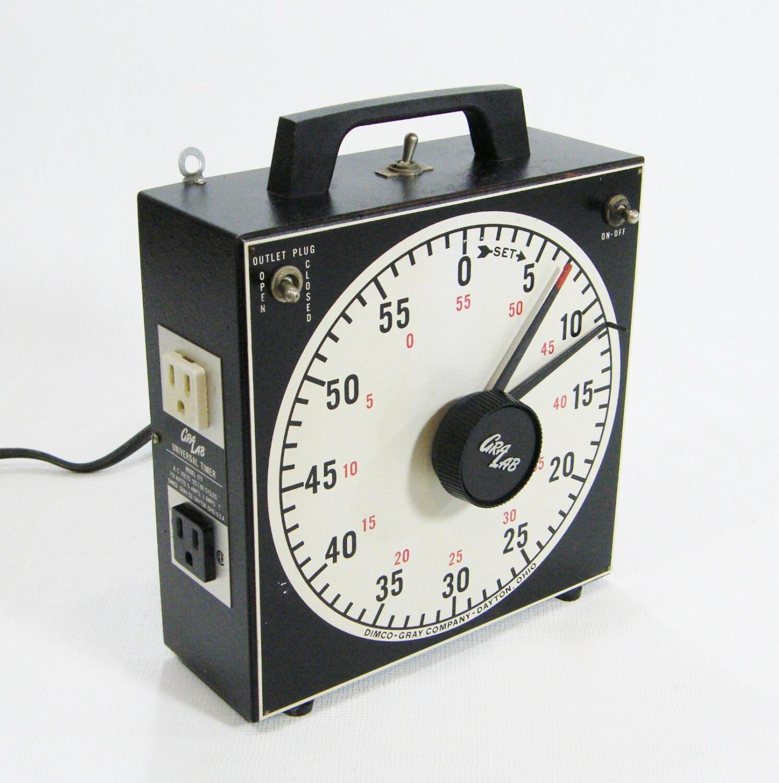 vintage industrial timer