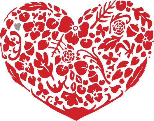 Oklahoma Relief- Special Edition Red Floral Heart Print