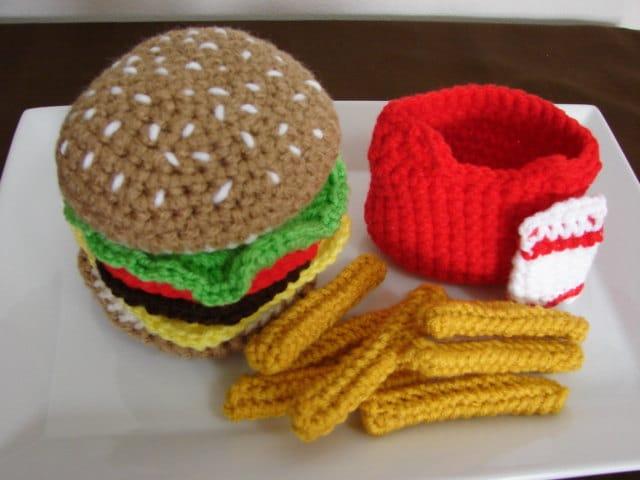 CROCHET CHEESEBURGER PATTERN Crochet Patterns