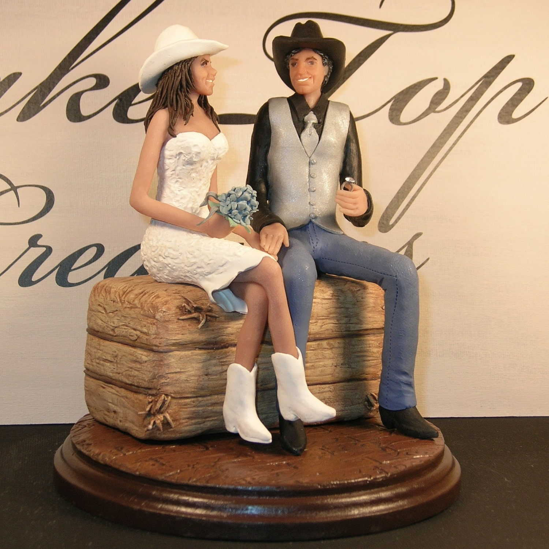 Custom Western Wedding Cake Topper