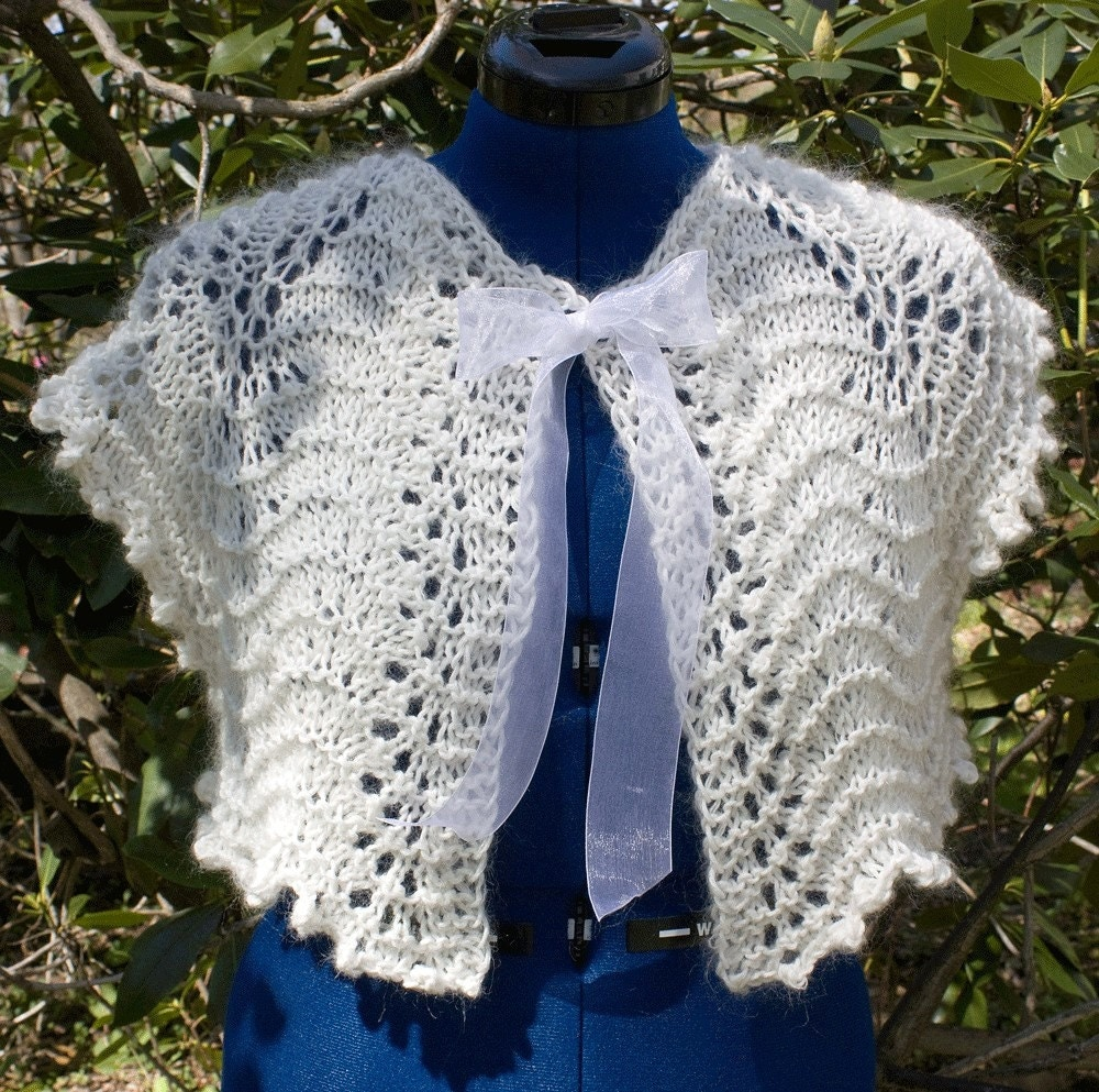Lacy Cropped Jacket for Wedding or Summer - HuzzahHandmade