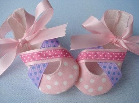 VENTA - PDF ePattern ballet zapatos de bebé del estilo - Botines con cintas de coser Patrón