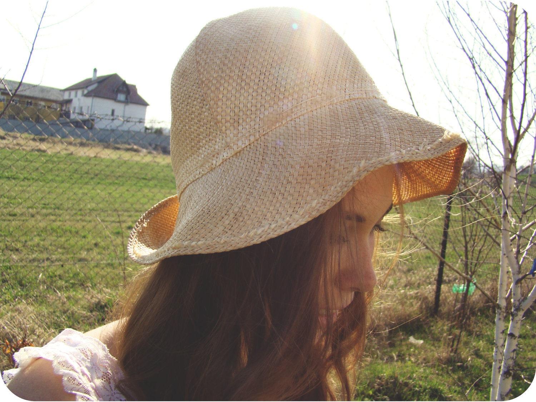 Vintage 1970's Sun Hat/Straw Hat - kickassvintage