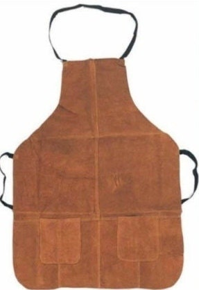 Pro Heavy Duty Leather Work Apron with Pockets -- Very Rugged