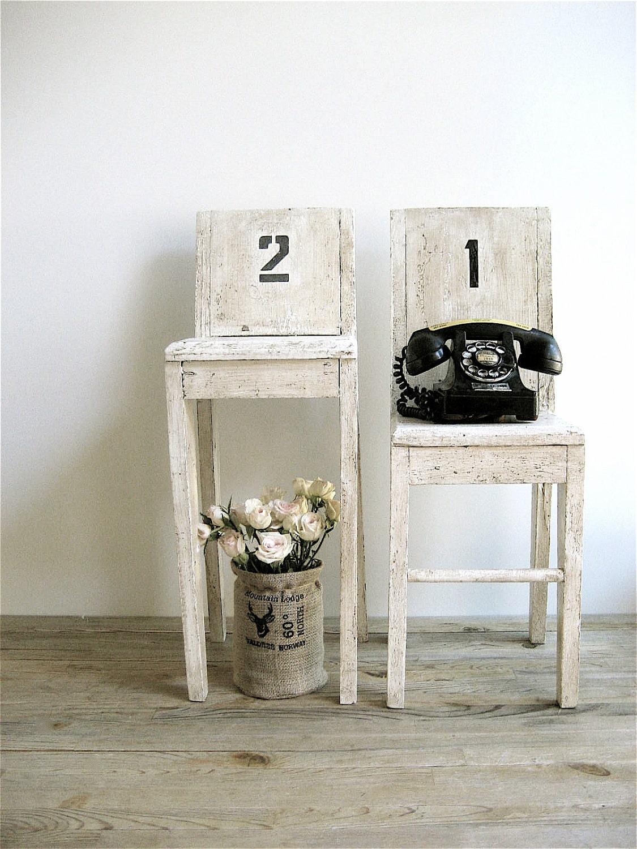 Винтаж Деревянные стулья (две штуки)