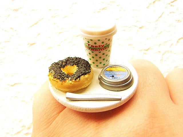 Coffee Food Ring Bagel Cream Cheese