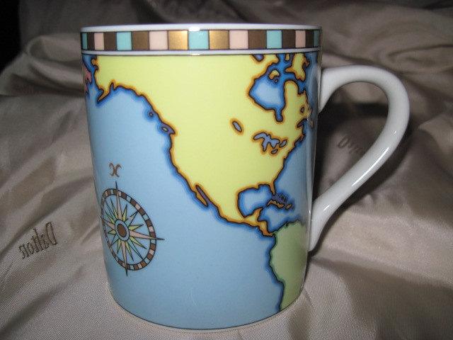 World map mug on the hunt tiffany co world map globe porcelain coffee mug teacup gumiabroncs Image collections