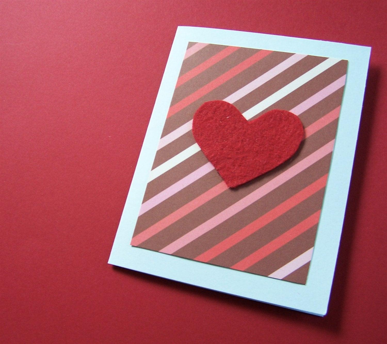 2 Felt Heart cards