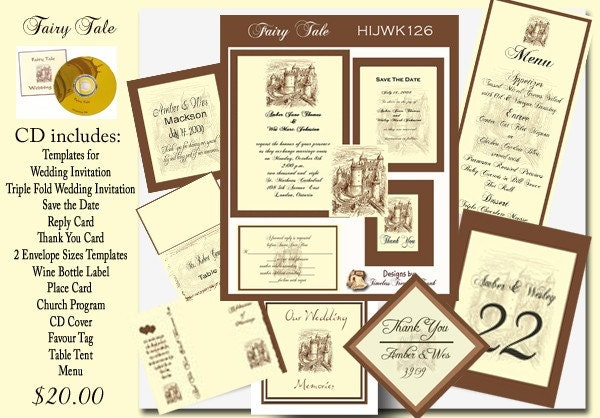 fairy tale invitation template.