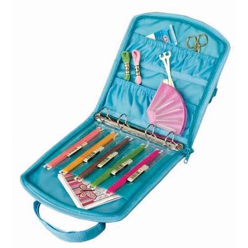 Floral Mini Needlework Travel Bag