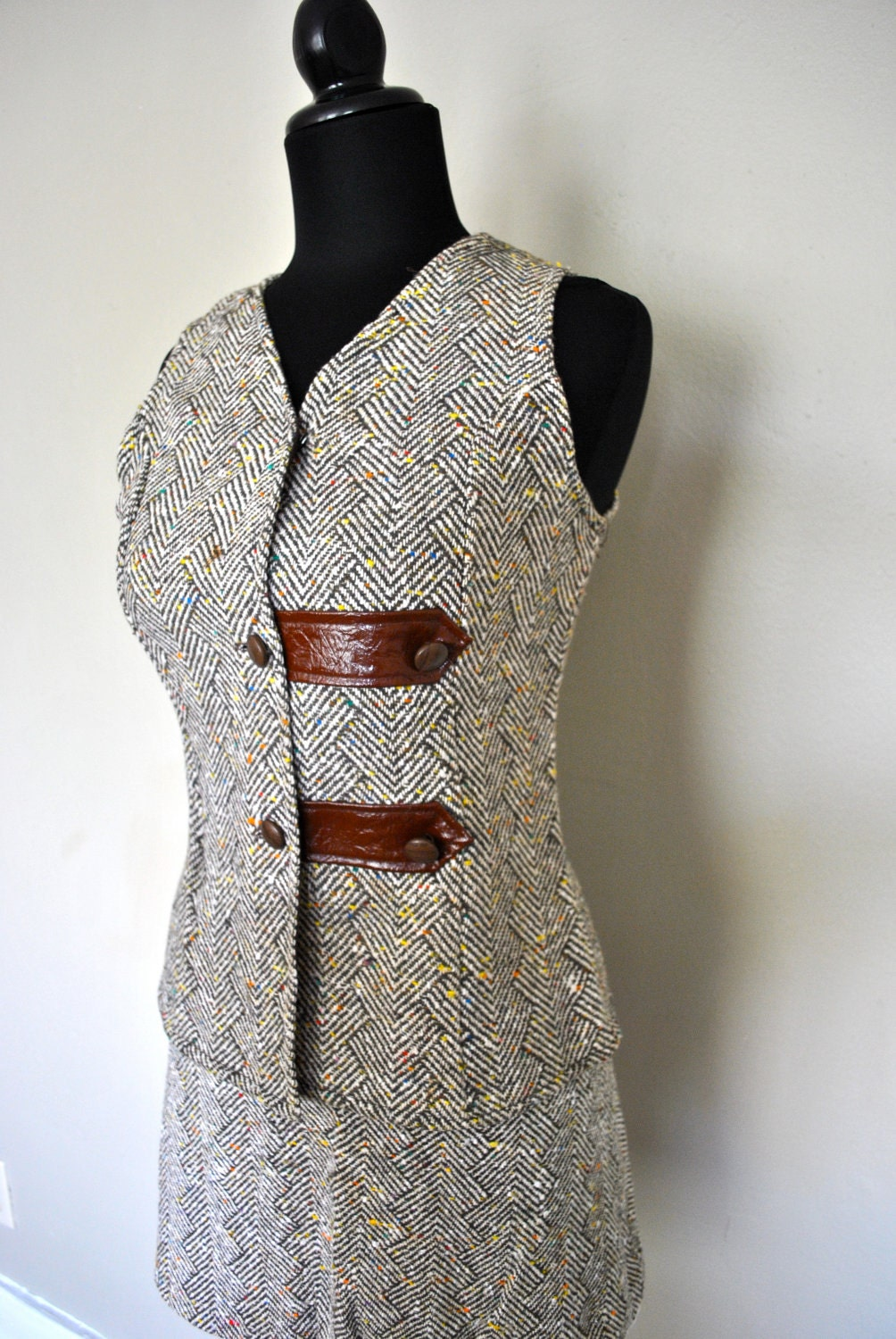 1960/70s Womens Handmade Colored Wool Suit