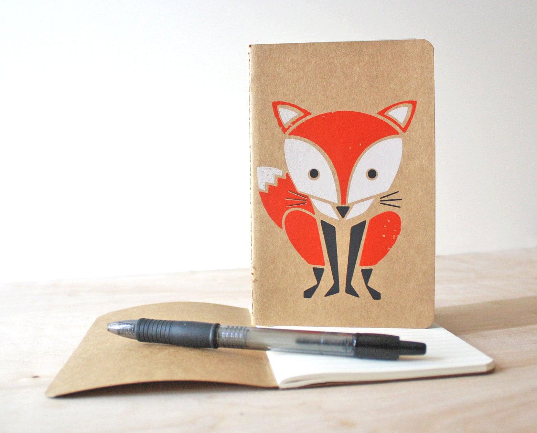 Red Fox- Kraft Moleskine Cahier Journal