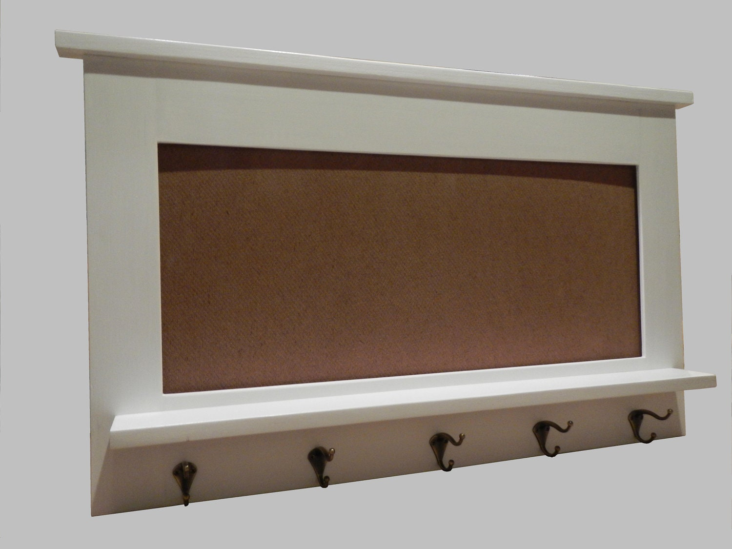White Entry organizer wall mirrorbeach decor by neilsonwoodworks