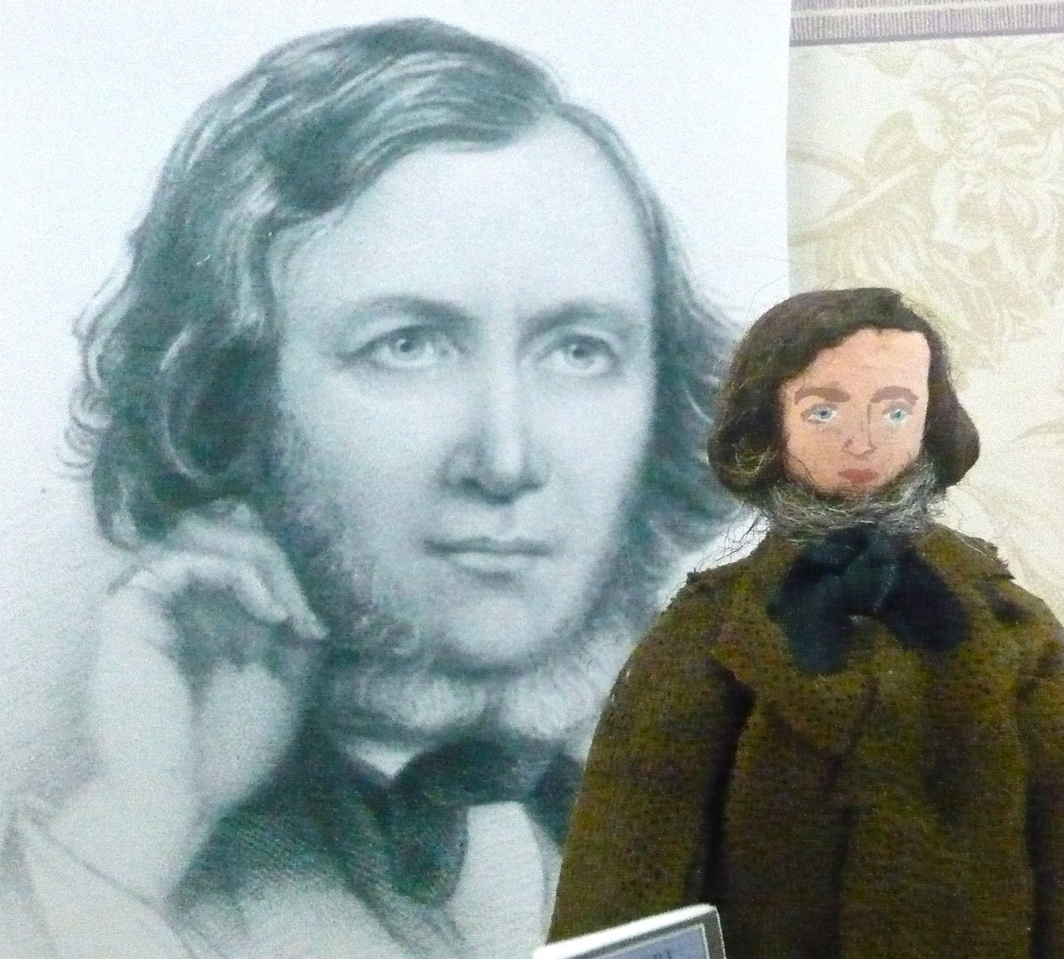 Robert Browning Doll Miniature Victorian Author and Poet