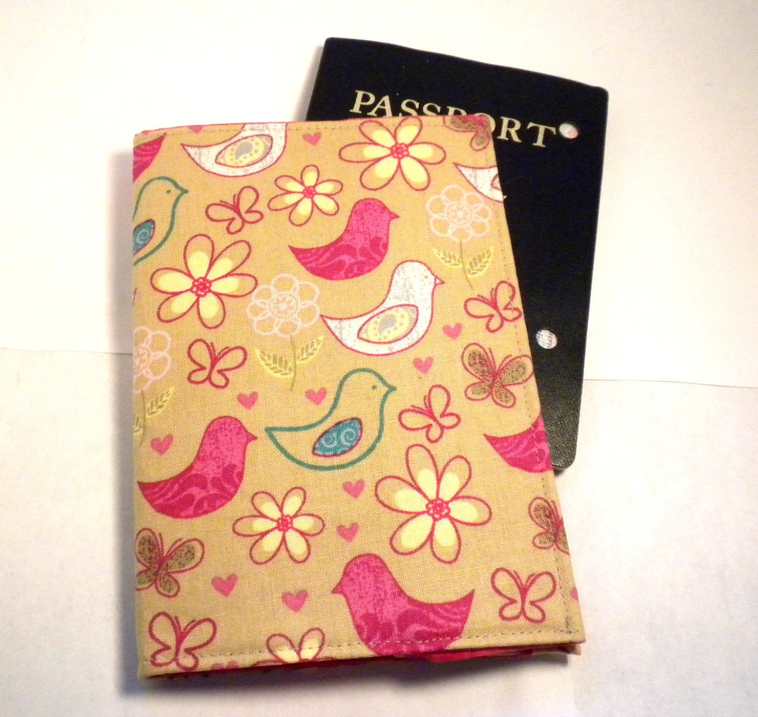 Bird Passport Case colorful bird passport cover whimsical