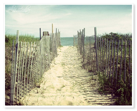 Cape Cod Photography / Beach photography / Coastal Decor / 8x10 print / nautical seaside art / sand dunes / Seashore Ocean Photo / Blue Sand