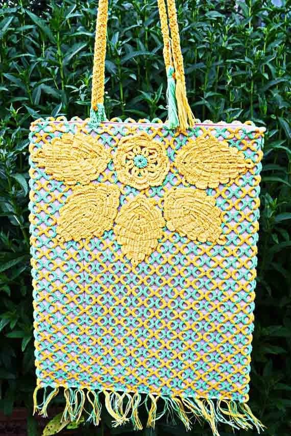 "Tatting female bag ""Autumn""."