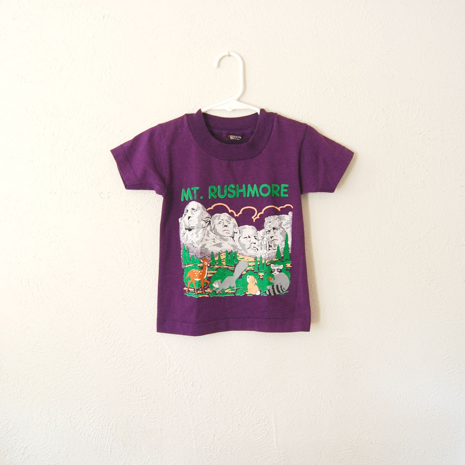 vintage childrens mt rushmore t-shirt - olliesvintage