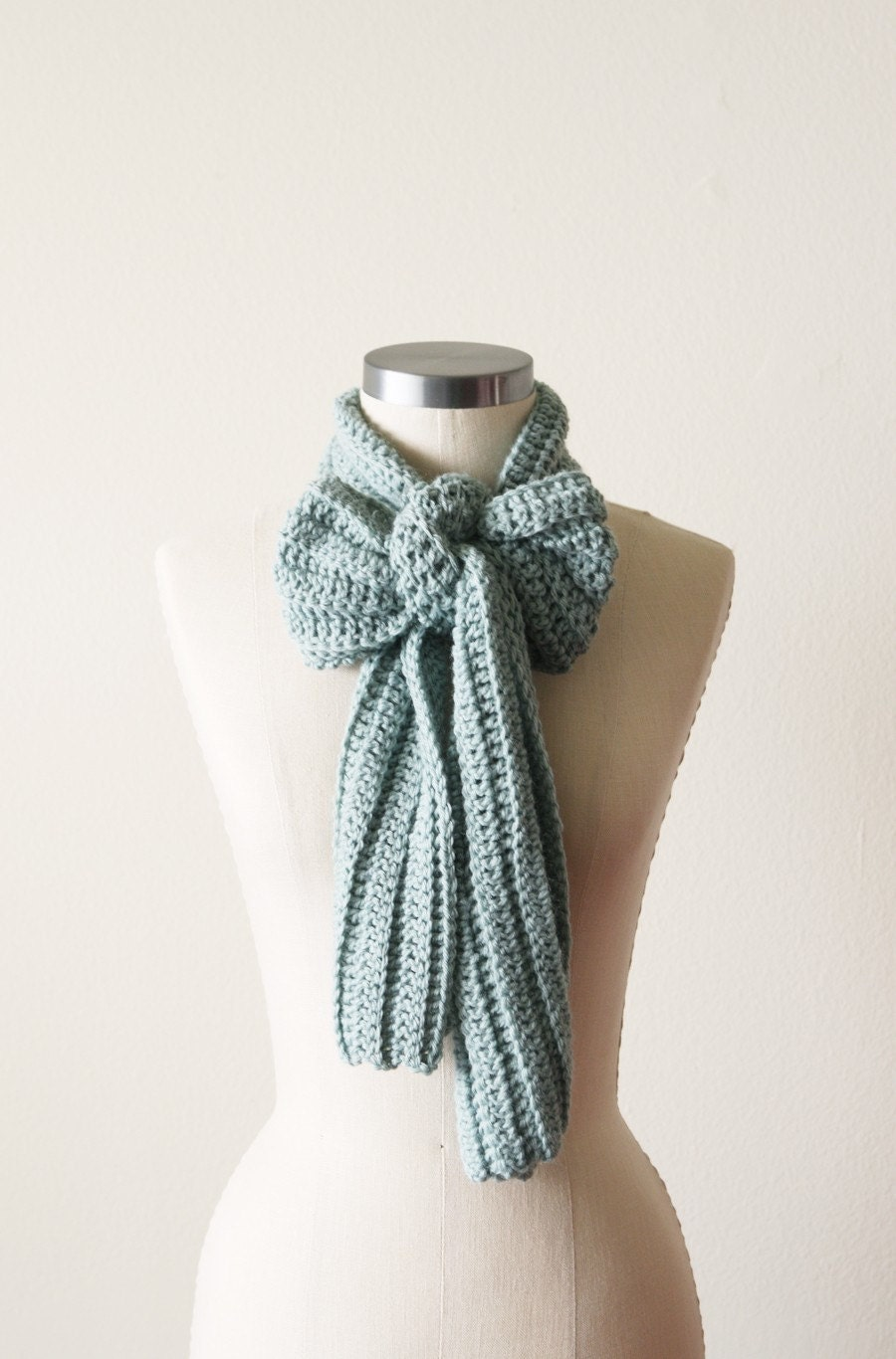 Casual Scarf in Sea Foam - OhLeanderShop