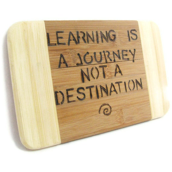 Inspirational plaque.  Learning is a Journey. ON SALE  Graduation. - KnottyNotions