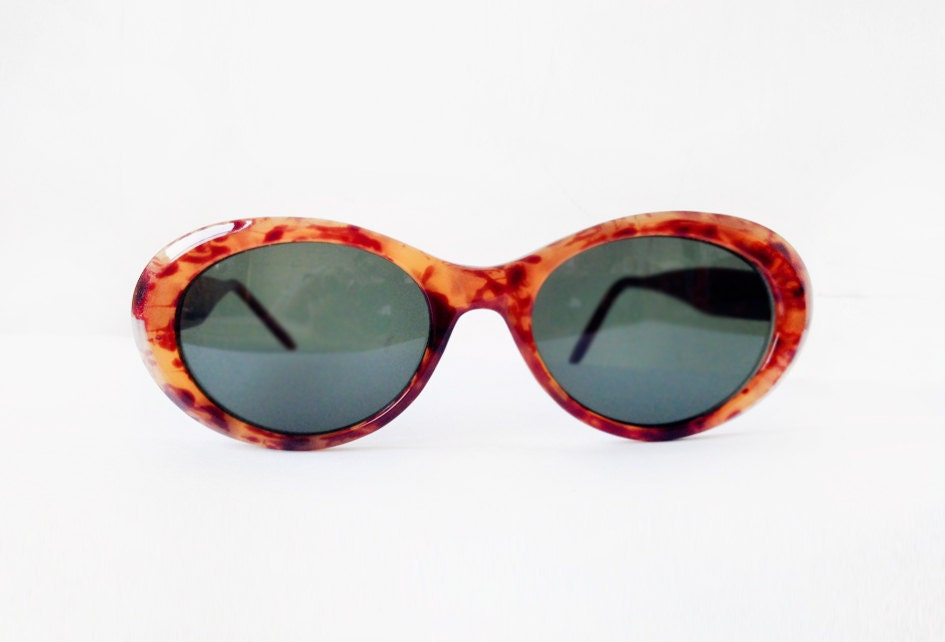 1950's Superb Fashion Green Lens with brown Tortoise frame Cat Eye Sunglasses - eyewear - eyeglasses - SpaceMauve
