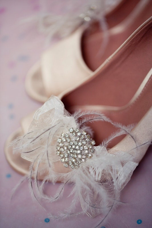 Bridal shoe clips, shoe clips, flower shoe clips, Lake Ships in 1 Month