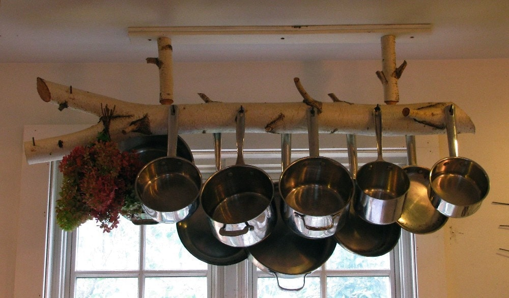 Birch Pot Rack