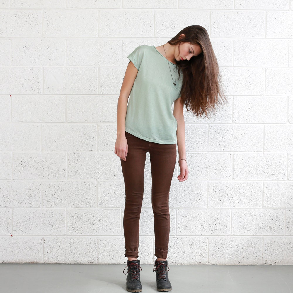 Loose Knit Mint Shirt - naftul