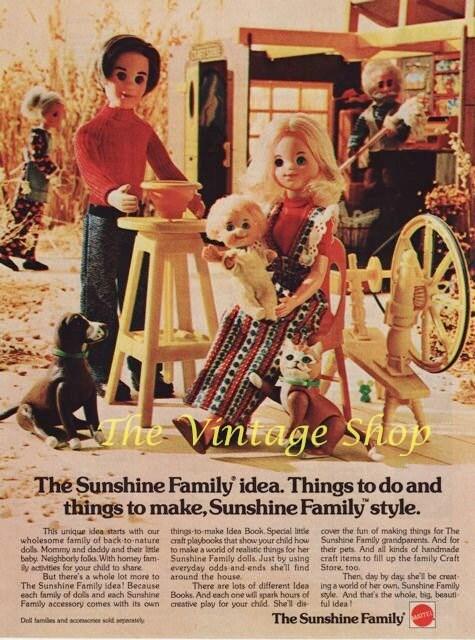 Famille Sunshine (la) / The Sunshine family (MATTEL) 1973 - 1978 Il_570xN.389913063_2c50