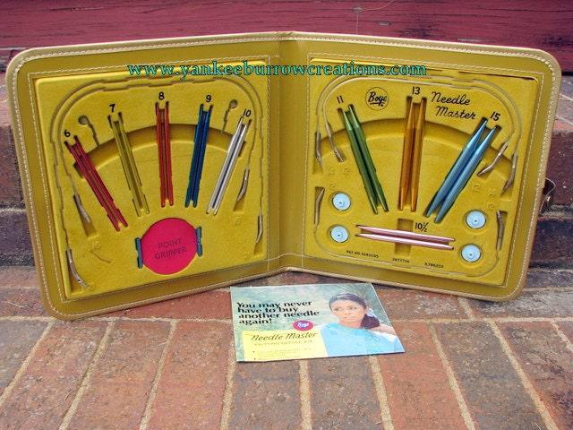 Vintage Boye Needle Master knitting needles set
