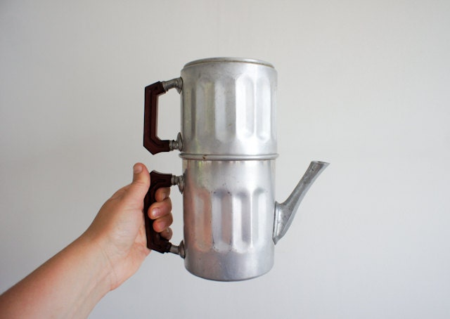 vintage french coffee maker from the 40's - FrenchAtticFinds