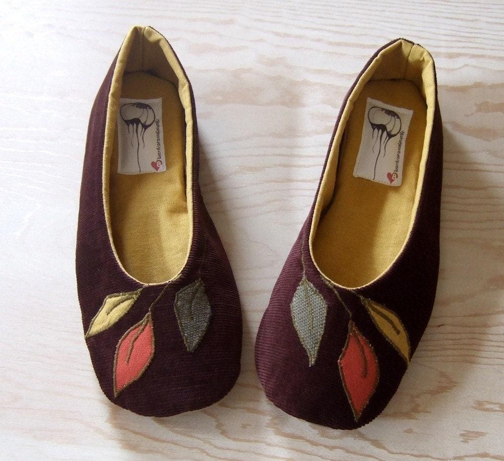 Handmade Organic Vegan Ballet Flat Shoes- Flora Flat - HydraHeart