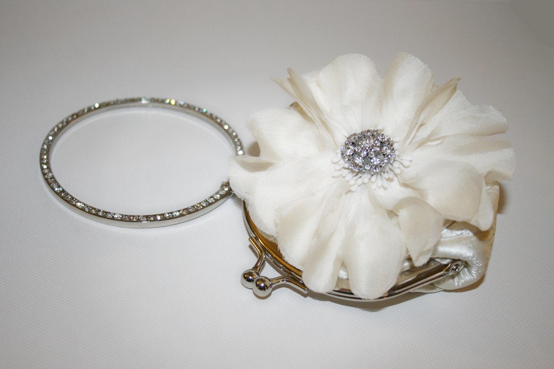Цветение Цветок и сливки Rhinestone браслет ручки сцепления кошелек зарезервированы для lushcouture