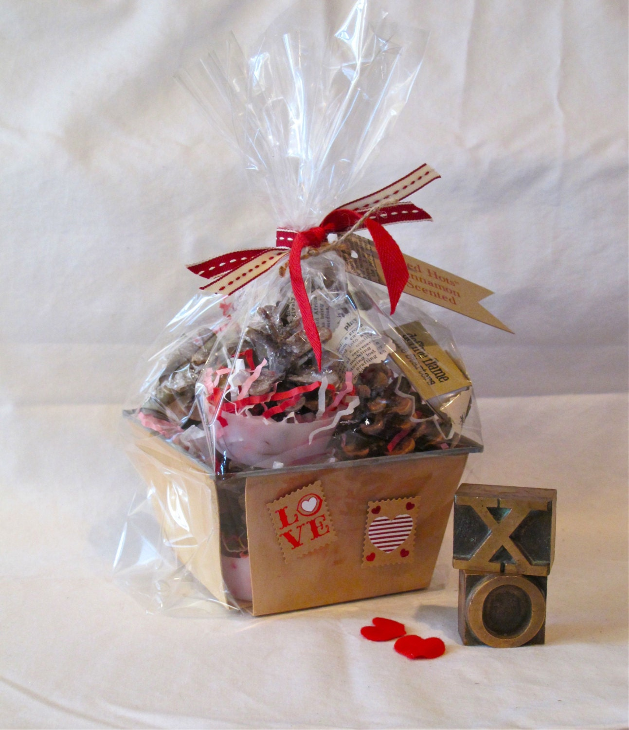 Define Flame, Pinecone, Fire Starters, Valentines Day, Vintage Berry Basket, Valentines Day Gift, Red Hots, Cinnamon Scented