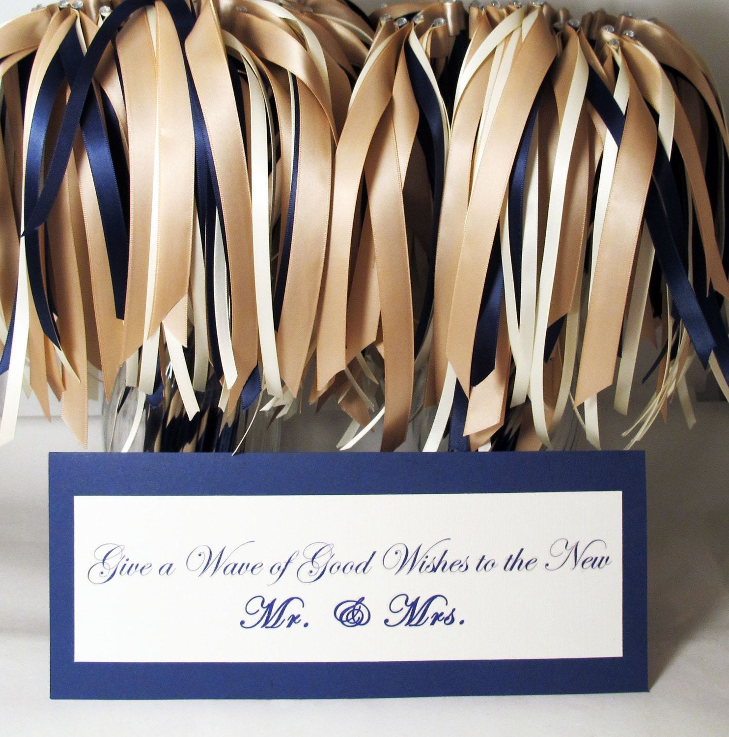 As Seen On David Tutera- My Fair Wedding -Ribbon Wands 50 Pack in YOUR COLORS