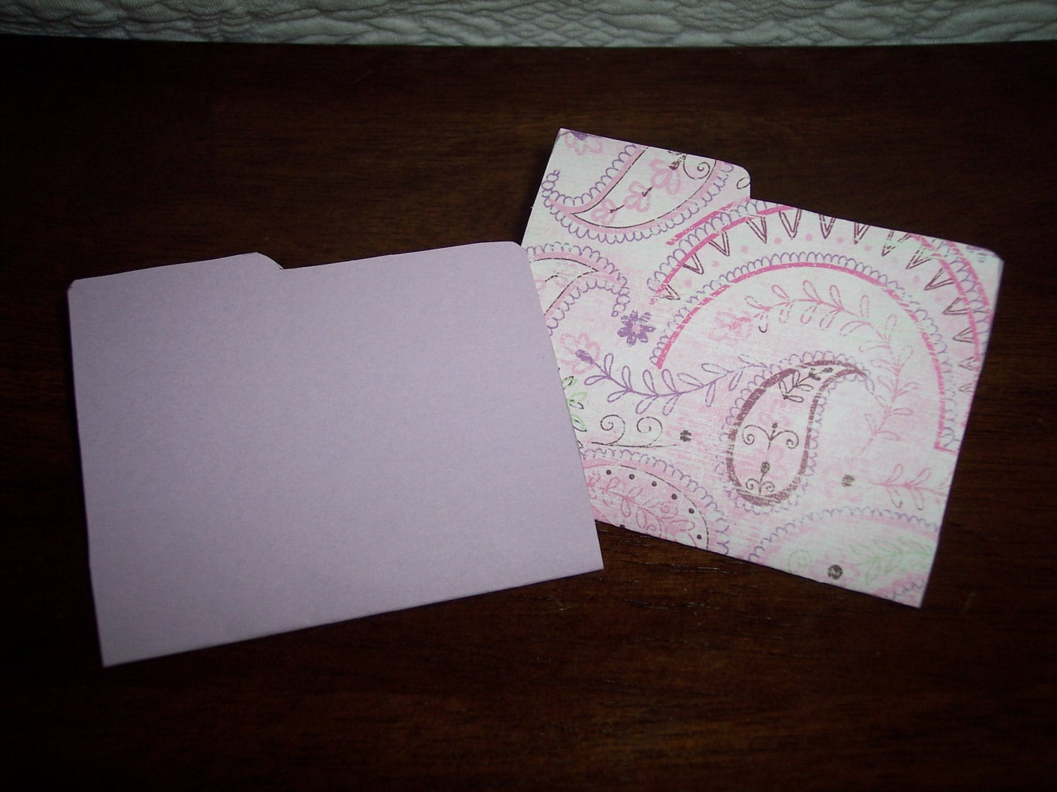Girly Purple and Pink Folders